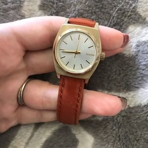 Nixon watch with leather band